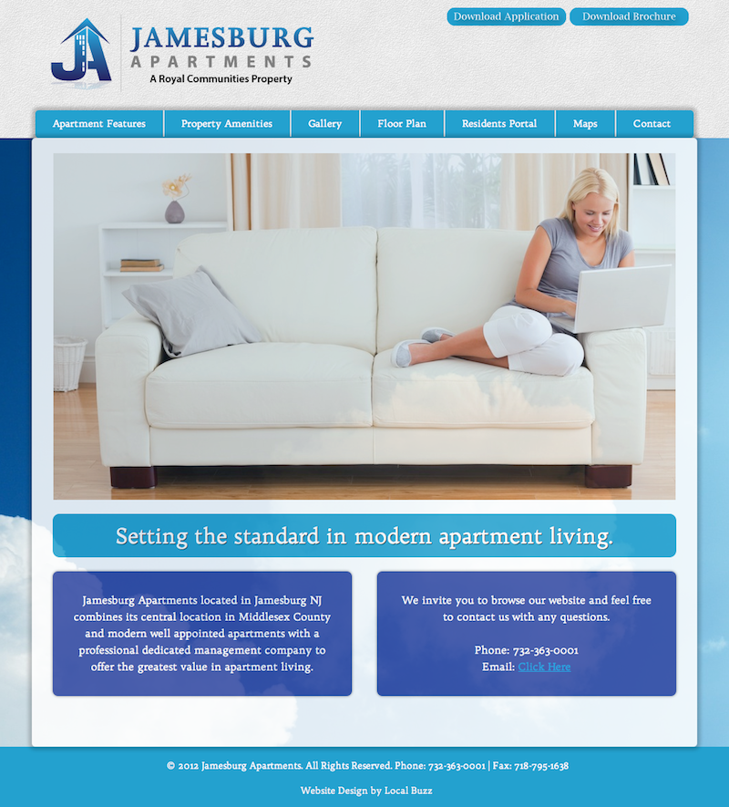 Apartments Websites: Gymnastic Website Design / Blue Red White Color Scheme Web