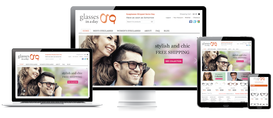 Responsive Custom eCommerce Website