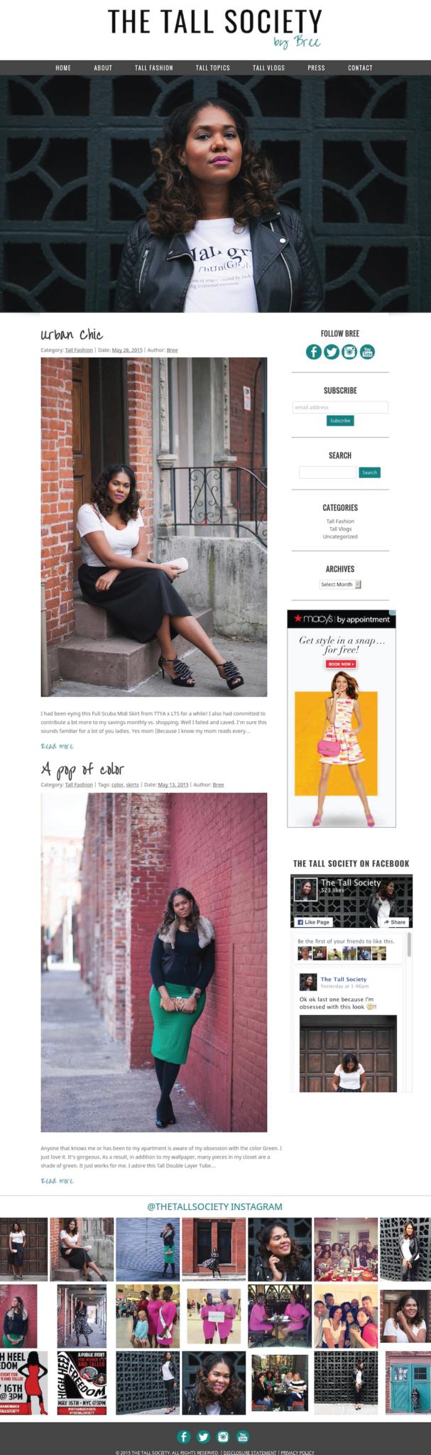Custom WordPress Blog Design for NYC Fashion Blogger