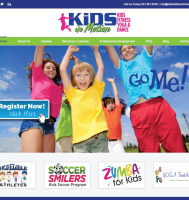 kids fitness website design