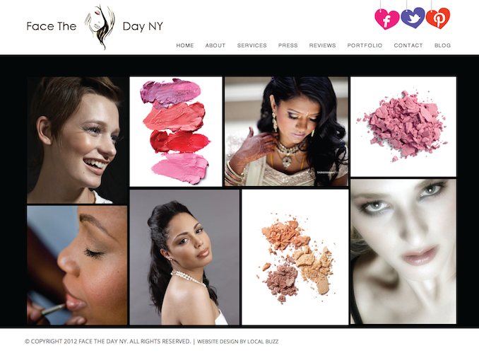 makeup artist website | WordPress Website Design NJ | NJ Web Site ...