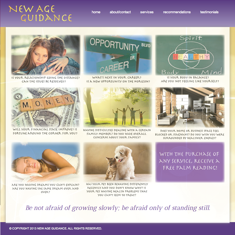 New Age Website Design