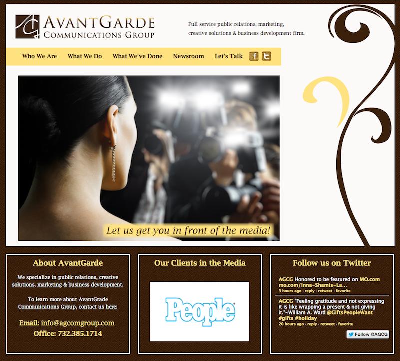 PR Company Website Design