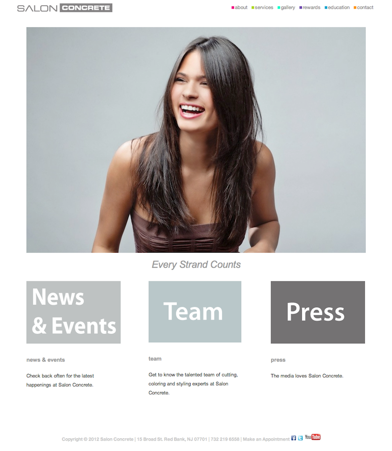 Hair Salon Website Design | WordPress Website Design NJ | NJ Web ...