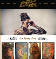 Custom Tattoo Shop Webite